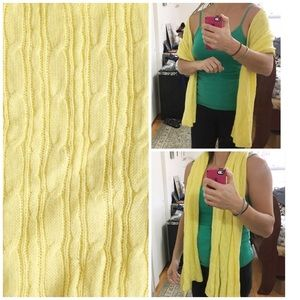 5/$25 NEW Old Navy yellow knit scarf, wrap.